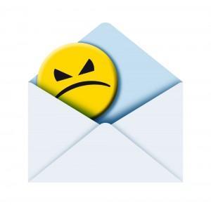 Angry Face Inside Envelope | Shutterstock.com