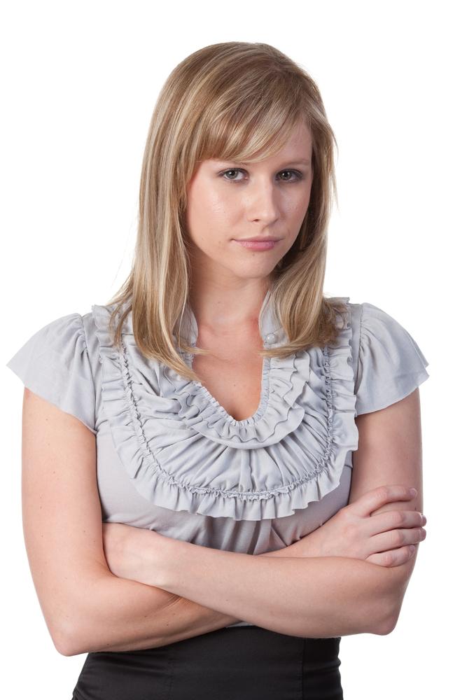 Grumpy Female Worker | Shutterstock.com