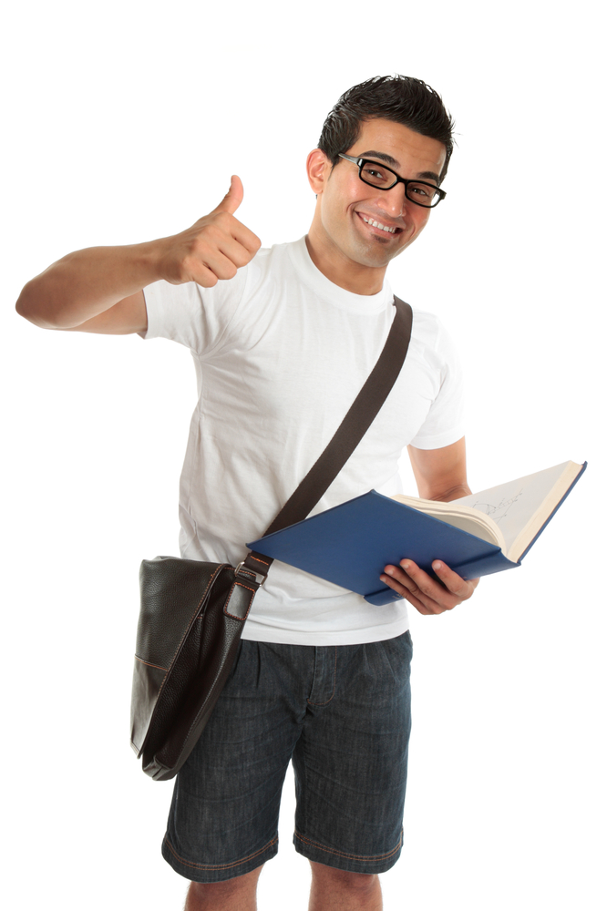 Excited Male College Student | Shutterstock.com